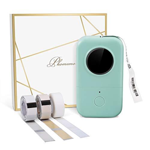 スマホ ラベル プリンター Phomemo D30 Bluetooth接続 インクレスサーマルプリント 軽量 3巻の熱ラベルパック 家の貯蔵/値札/文書の分類/食品の分類に使用することができます