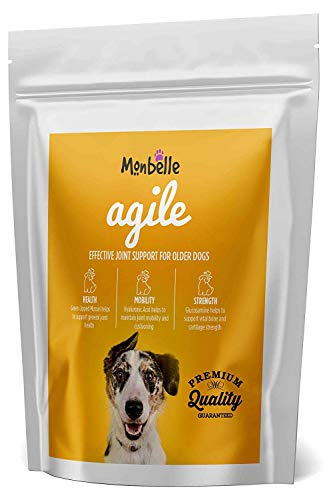 Monbelle Dog Joint & Agility 60 Tablets - Soothes Hip, Lipped Muscle & Joints Supplement for Stiff Dogs & Aids Mobility - Glucosamine & Natural Chondroitin for Dog Joint Care - UK Manufactured