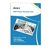 OHP Film Overhead Projector Film 11x17 - For Inkjet Printer only Transparency Film 20 Sheets Uinkit