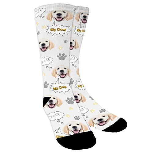 YanNanKe Calcetines Personalizados Foto,Personalizable Calcetines, Ponga fotos de perros, gatos y otras mascotas en calcetines, divertidos regalos personalizados de calcetines faciales