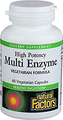 Natural Factors Multi Enzyme Full Spectrum High Potency (60 Vegetarian Capsules)