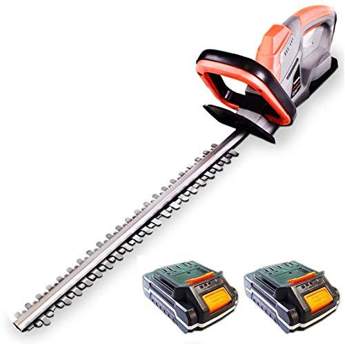 Terratek 20V Cordless Electric Hedge Trimmer 2 x 20V Batteries, 51cm (510mm) Cutting Length, Easy...