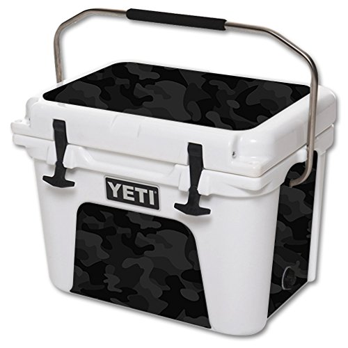 MightySkins Skin Compatible with YETI 20 qt Cooler - Black Camo | Protective, Durable, and Unique Vinyl Decal wrap Cover | Easy to Apply, Remove, and Change Styles | Made in The USA