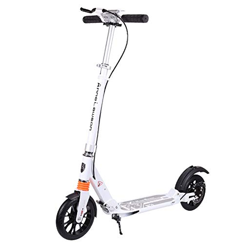 ChenyanAwesom Scooter for Kids Adult Pedal Scooter Two-Wheel Aluminum Alloy Two-Wheel Collapsible Scooter for Kids Comfortable and Safe (Color : White)