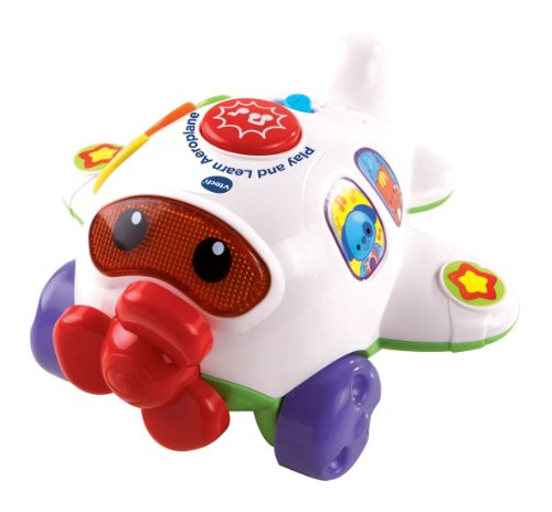 Vtech Baby – Play and Learn Aeroplane – 1,2,3 Décollage Version Anglaise (Import UK)