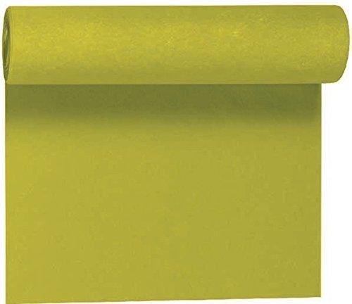 Duni Tête-à-Tête-Tischläufer aus Dunicel alle 120 cm perforiert, Uni kiwi, 40 x 2400 cm
