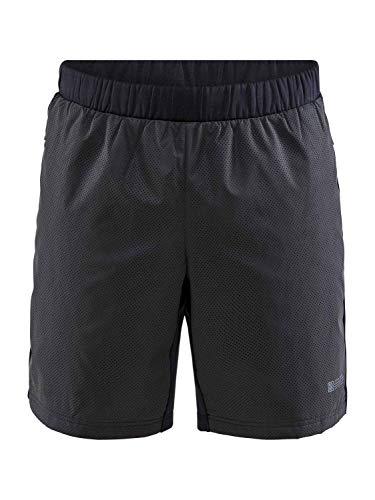 Craft Lumen SubZ Shorts Hombre Negro 2020 Correr Pantalones Cortos, negro, XL