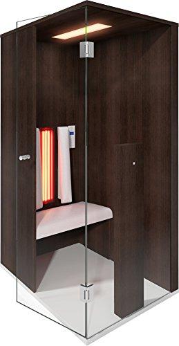 Infrarood cabine | Infrarood sauna Select Line 1 voor één persoon Amazon eiken van b-intense by Physiotherm - een aanbieding van welcon-wellness.de