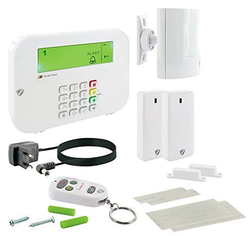 SCHWAIGER -5385- Funk-Alarm-System | Alarmanlage fürs Haus | Sirene | mit Fernbedienung | Einbruchschutz | Fenster-Sicherung | Tür-Sicherung | Green Guard