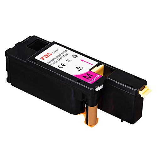 FDC Toner kompatibel Dell e525 W Drucker Toner Patronen 1 Pack Ersatz für Magenta 593-bblz/wn8 m9/g20vw