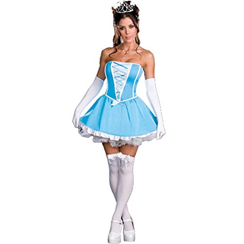 LNC-QQNY Lenceria Sexy Falda de Blancanieves Sexy Costplay de Halloween para Europa y América