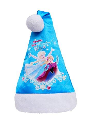 Disney Frozen kerstmuts voor kinderen, blauw, eenheidsmaat 90902