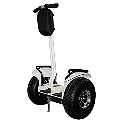 eco-glide Smart Self Balance Scooter Personal Transporter 19 inch All Terrain Tires (White)
