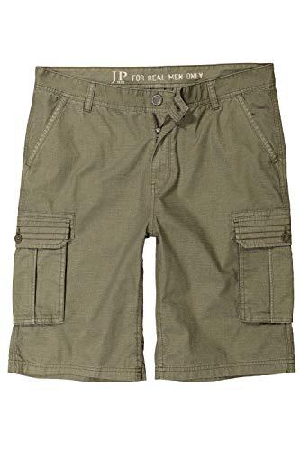 JP 1880 Herren große Größen bis 70, Cargo-Bermuda, Shorts, Kurze Hose, 6 Taschen, Oliv 58 717028 43-58