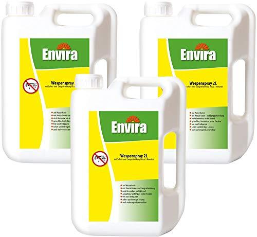 Envira Wespen-Spray - Anti-Wespen-Mittel Mit Langzeitwirkung - Geruchlos & Auf Wasserbasis - 3x2Ltr