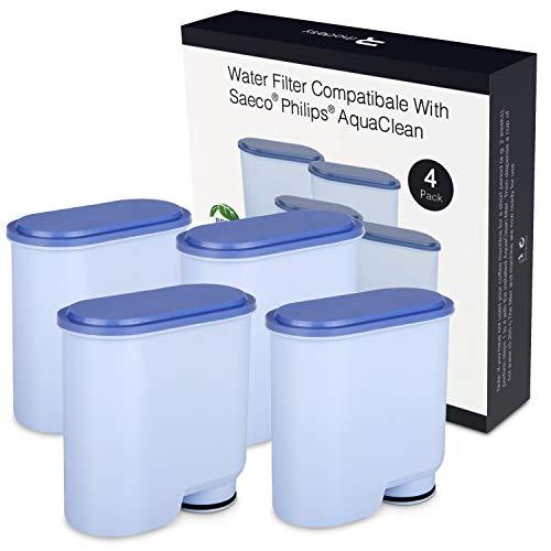Wasserfilter für Saeco und Philips Kaffeevollautomaten, Homegoo Kalkschutz CA6903 AquaClean Wasserfilter Kompatibel mit Philips und Saeco AquaClean Kaffeevollautomat (4 Stück)