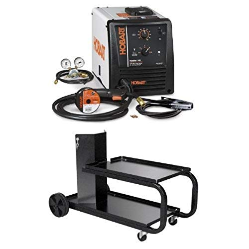 Hobart 500559 Handler 140 MIG Welder 115V with Hobart 194776 Small Running Gear/Cylinder Rack