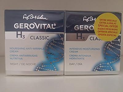 Gerovital H3 Classic Pack 45+ years, Nourishing Anti-wrinkle night + Intense Moisturising day cream from Farmec Sa Cluj Napoca