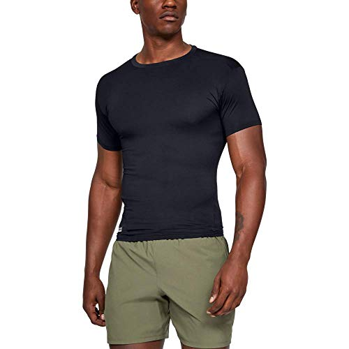 Under Armour UA TAC Heatgear Comp tee Camiseta, Hombre, Negro (Black/Clear 001), S