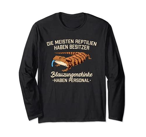Blauzungenskink Haben Personal Haustier Echse Reptilien Langarmshirt