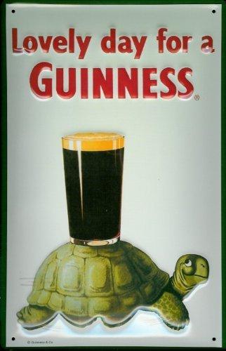 Buddel-Bini Versand Blechschild Nostalgieschild Guinness Lovely Day for a Guinness Schildkröte Turtle Schild