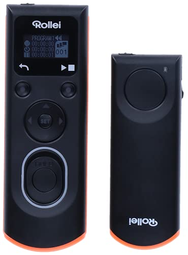 Rollei Wireless Fernauslöser für Canon – erlaubt die kabellose Fernauslösung, Langzeitbellichtungen, Serienbild und Zeitintervall Aufnahmen Ihrer (Hersteller) DSLM/DSLR Kamera, LCD-Display beleuchtet