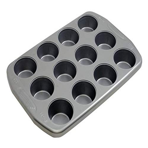 G & S Metal Products Company Preferred Nonstick Muffin Baking Pan, 12-Cup, Gray
