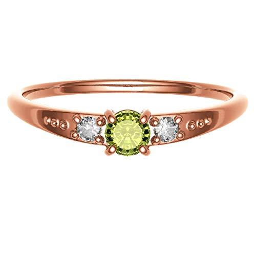 [ココカル]cococaru ダイヤモンド ガーネット リング K18 ピンクゴールド 指輪 17号 重ね付け 天然石 誕生石 カラーストーン 天然 ダイヤ 日本製