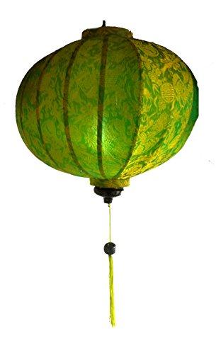 Vietnamese Oriental Silk Bamboo HANDGEFERTIGTE Laterne LAMPEN Chinesisch grün 14