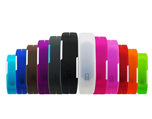 BINKO - Reloj de pulsera LED, deportivo, ultrafino, silicona, resistente al agua, digital, uso exterior, color morado