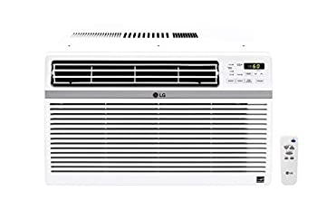 LG 10,000 BTU 115V Window-Mounted Air Conditioner with Remote Control White