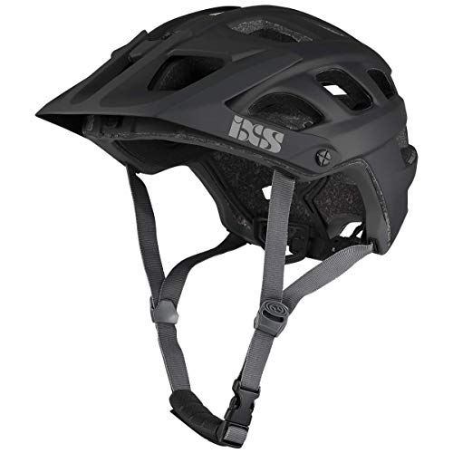 IXS RS Evo Helm MTB Trail/All Mountain Erwachsene, Unisex, Black, SM (54-58 cm)
