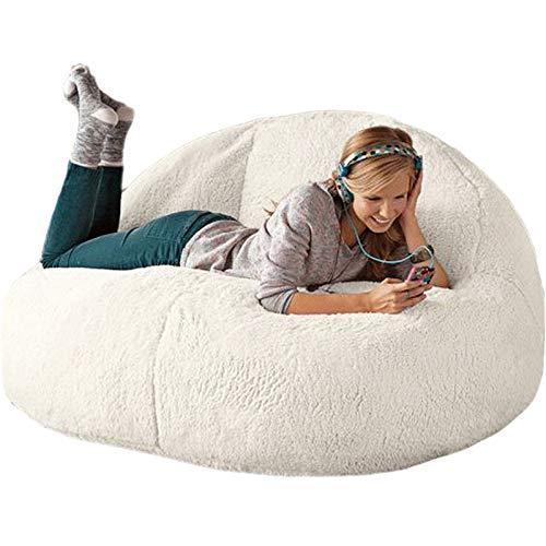 Fluffig sittsäck, stor lamb sammet sittsäck soffa, fyllmedel ingår inte lat bäddsoffa, lämplig för småbarn, ungdomar, barn, vuxna (Color: L, storlek: )