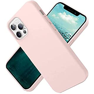 iLee Liquid Silicone Case Replace for iPhone 12/12 pro case 6.1 inch 2020 Drop Protective Cover Shockproof Durable Gel Rubber Sturdy Flexible Slim Bumper Case (Pink)