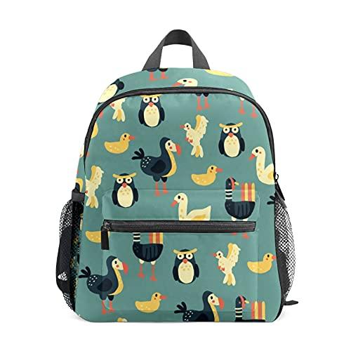 Mochila pequeña para niñas Dodo Owl Duck Bird Mochila pequeña para mujer de 12 pulgadas, bolsa de viaje para la escuela para niñas y niños