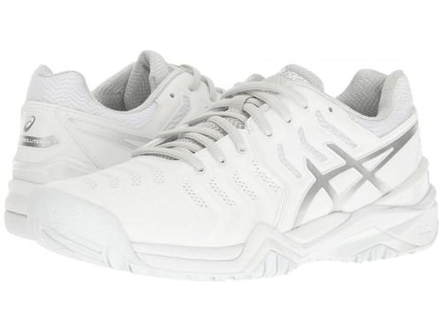 予備方法切る[アシックス] レディース 女性用 シューズ 靴 スニーカー 運動靴 Gel-Resolution 7 - White/Silver [並行輸入品]