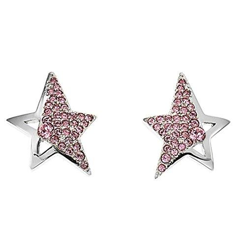Thierry Mugler Pendientes EN Acero Estrella Rosa