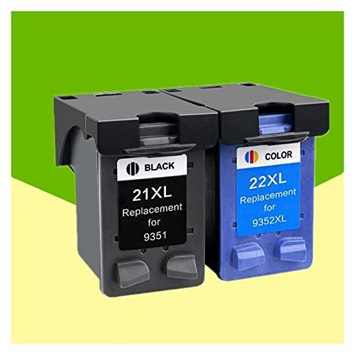 WTBH Cartucho de Tinta 21 22 XL Reemplazo del Cartucho de Tinta para HP 21 22 para HP21 21XL 22XL DeskJet F2180 F2280 F4180 F380 380 Impresora Reemplace el Cartucho de Tinta (Color : 1BK 1Tri Color)