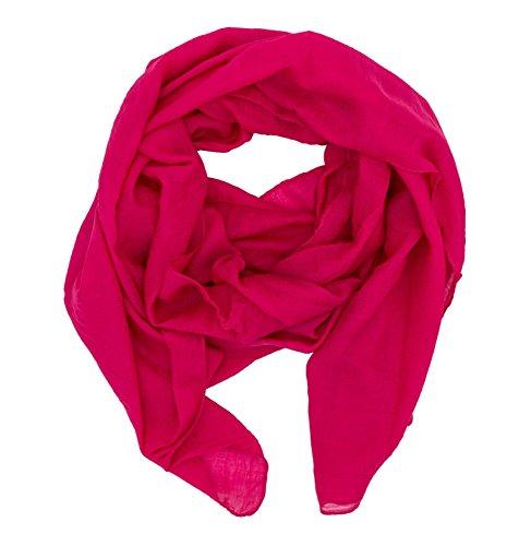 DOLCE ABBRACCIO by RiemTEX WILD CAT Damen Schal Halstuch Tücher aus kratzfreiem Mikrotouch für Frühling Sommer Ganzjährig (Dark Pink)