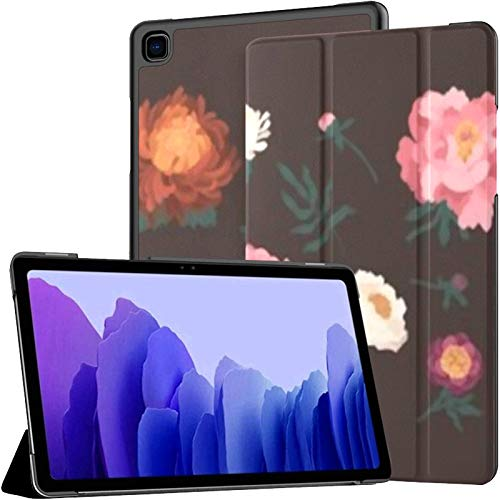Case For Samsung Galaxy Tab A7 10.4 Inch Tablet 2020(sm-t500/t505/t507),Bundle Blooming Peonies Chrysanthemums Isolated On Multiple Angle Stand Cover With Auto Wake/sleep