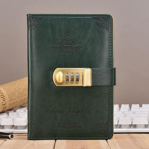 Kunsa Quaderno per diario con Copertina in Pelle Quaderno per diario con Blocco di codice Libro Segreto Affari Affari Blocco per Appunti B6