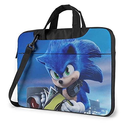 XCNGG Soni-c Laptop Bag Tablet Maletín portátil Funda protectora Funda Messenger Bags 15.6 pulgadas