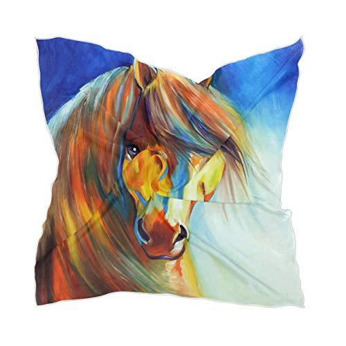 Vrouwen Horse Head Headpitchief Chiffon Headpiece Sheer Thin Silk sjaal
