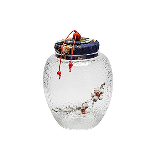 Cremación Urns Urnas de cremación Urna Funeraria For Adultos Urnas De Cremación Únicas Tarro De Cristal Almacén De Martillos De Estilo Japonés For Un Pequeño Número De Personas O Mascotas Tanque De Al