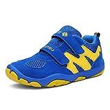 Zapatos de Trekking para niños Zapatos para niños con Velcro Zapatillas Deportivas Ligeras Zapatillas para Correr al Aire Libre Zapatillas de Deporte para niñas (EU 29, 002 ~ Azul)