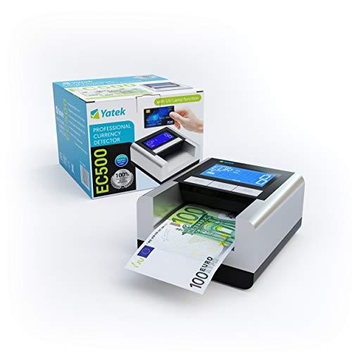 YATEK Detector de Billetes Falsos EC500 con batería incluid