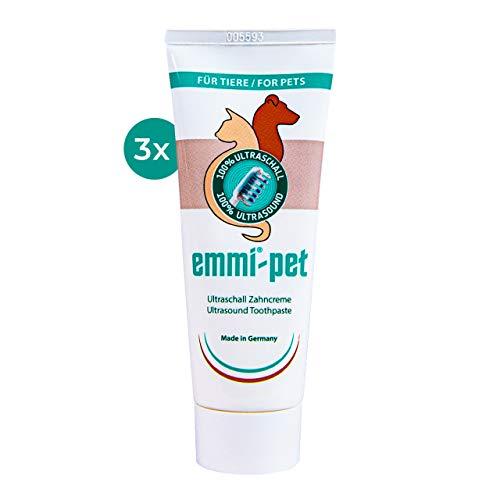 Emmi-pet 3X Hundezahncreme für Ultraschallzahnbürste – für alle Hundegrößen