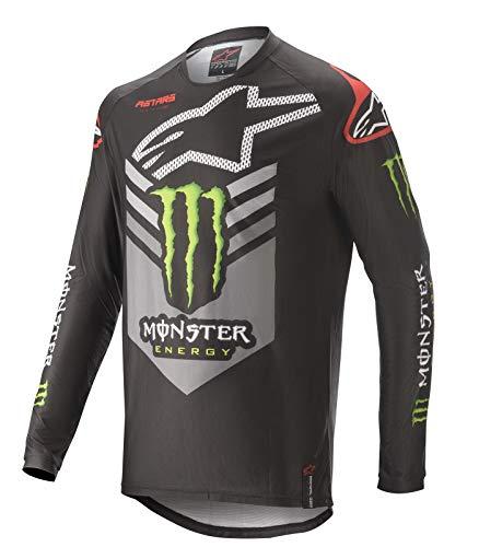 Alpinestars 2020 Racer Tech Herren MX Jersey Ammo Black/Grey/Bright Green, Auto und Motorrad, Schwarz/Grau/Hellgrün, L