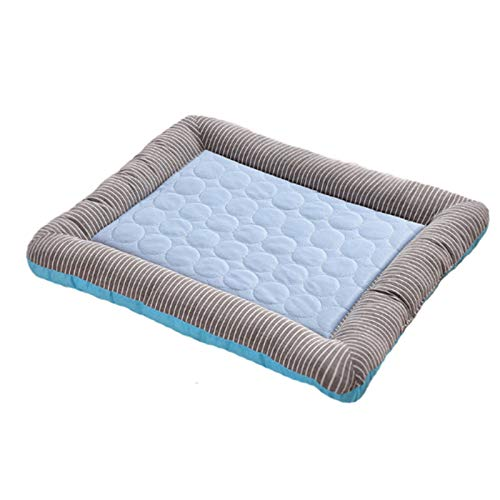 """RPGT Ice Silk Pet Self Cooling Mat No Electricity Required Kennel Bed Pad 18""""x 22"""" Sleeping Mat Keeps Dogs and Cats Cool Ideal for Home and Travel"""