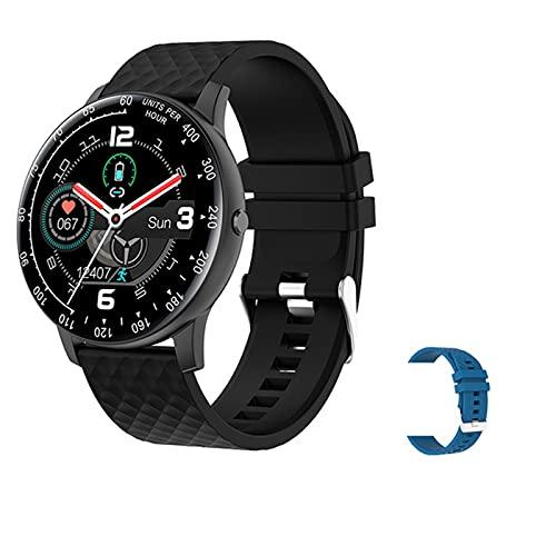 LLTG Smart Watch Hombres DIY DIAL TOUCHO Completo Touche Fitness Correo CORAZÓN RÁPIDO ARRANO Presión Arterial Reloj Inteligente Señoras SmartWatch H30 para teléfonos iOS de Android,D